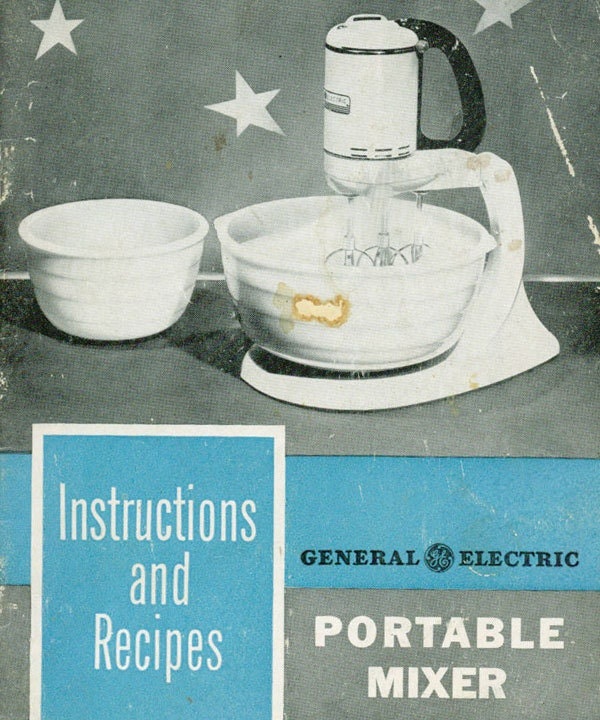 Vintage cookbook 1940s general electric mixer triple for General electric mixer vintage