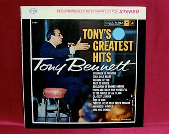 TONY BENNETT - Tony's Greatest Hits - 1962 Vintage Vinyl Record Album
