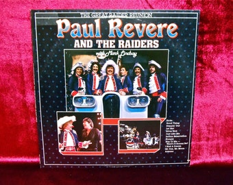 PAUL REVERE and the RAIDERS - The Great Raider Reunion - 1983 Vintage Vinyl Record  Album...PROMOtional Copy