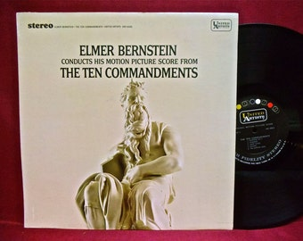 THE TEN COMMANDMENTS - Motion Picture Score - 1966 Vintage Vinyl Record Album