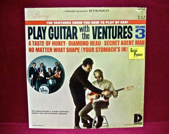 THE VENTURES - Play the Guitar With the Ventures Vol. 3 - 1960s Vintage Vinyl GATEfold Record Album...includes 12- Page Illustrated Booklet
