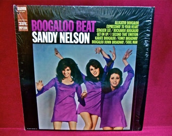 SANDY NELSON - Boogaloo Beat - 1968 Vintage Vinyl Record Album...PROMOTIONAL Copy