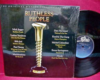 RUTHLESS PEOPLE - Original Motion Picture Soundtrack - 1986 Vintage Vinyl Record Album