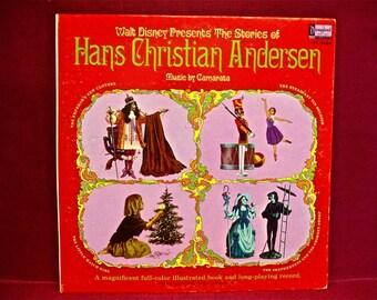 WALT DISNEY Presents - Hans Christian Andersen - 1967 Vintage Vinyl GATEfold Record Album...W/Full-Color Illustrated Booklet