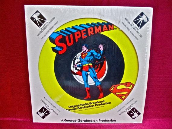 SUPERMAN  - Original Radio Broadcast - 1978 Vintage Vinyl Record Album...COLORED Disc