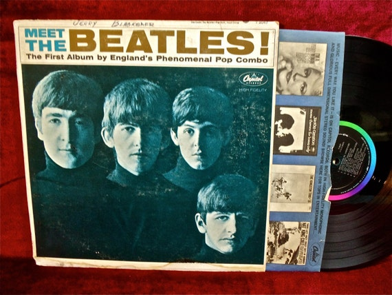The BEATLES - Meet The Beatles - 1964 Vintage Vinyl Record Album