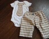 Tie onesie and pant set
