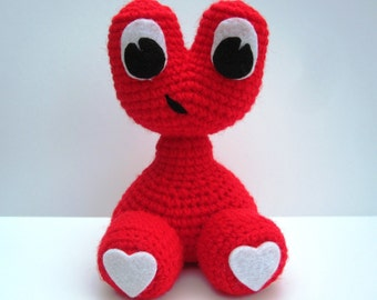 """Crochet Pattern toy Amigurumi Alien Monster """"Love Baby"""" Amigurumi Pattern- PDF Format- Permission to Sell what you make"""