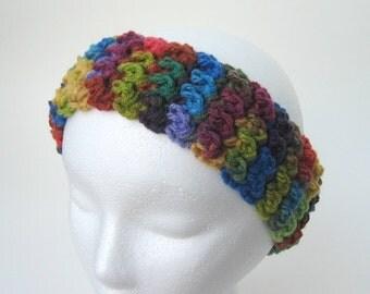 Crochet Pattern - Bienvenue Textured Crochet Pattern Headband Earwarmers One Skein 1hour Super Easy Tutorial- PDF