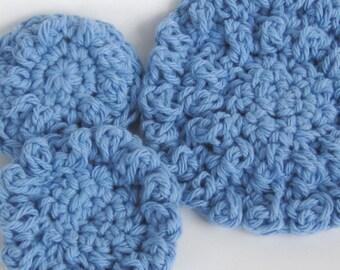"Crochet Pattern - Scrubbie Crochet Pattern Washcloths, Reusable ""Cotton Balls"", Rugs or Circular Blanket- PDF Format- p122"