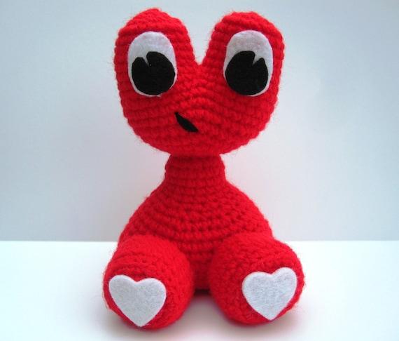 Crochet Pattern Amigurumi Alien Monster Love Baby