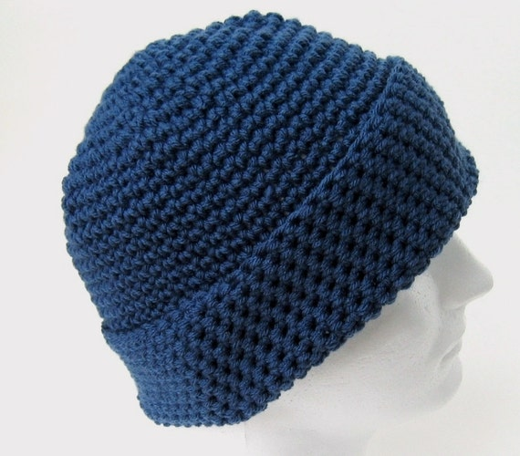 Crochet Pattern Beanie Hat Men Women Teen One Skein Pattern