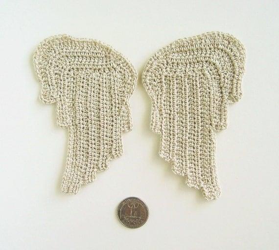 Crochet PATTERN Tiny Angel Wings - Earrings, Jewelry ...