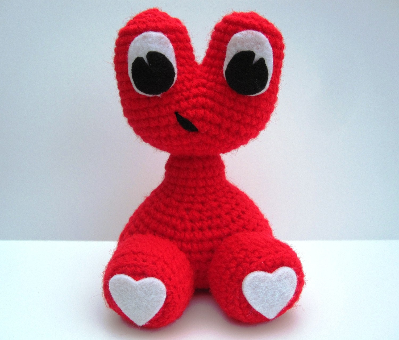 Crochet Amigurumi Baby Monsters With Craftyiscool : Crochet Pattern toy Amigurumi Alien Monster Love