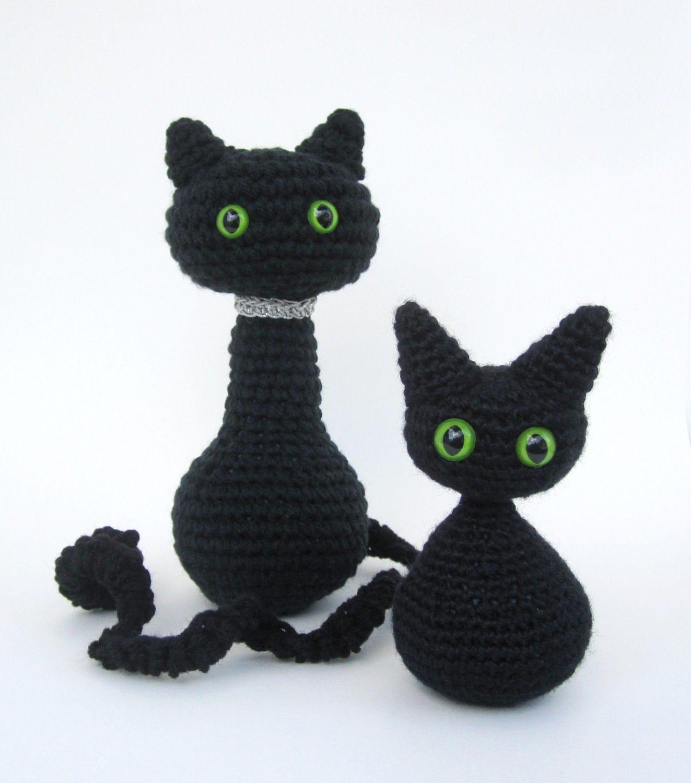 Free Easy Crochet Cat Pattern : Crochet Pattern Cat Amigurumi Angel Wings or Halloween