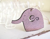 R E S E R V E D baby wood elephant for a babyshower