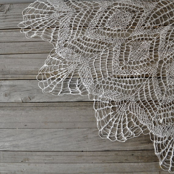 tatted lace doily extra large table mat