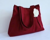 Red Purse Canvas Tote Everyday bag