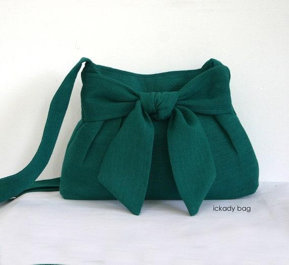 Small Green Messenger Bags - Cross Body Bag - Shoulder Bag - Purse