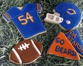 Homemade Chicago Bears Football Team Sugar Cookie Collection (1 Dozen)
