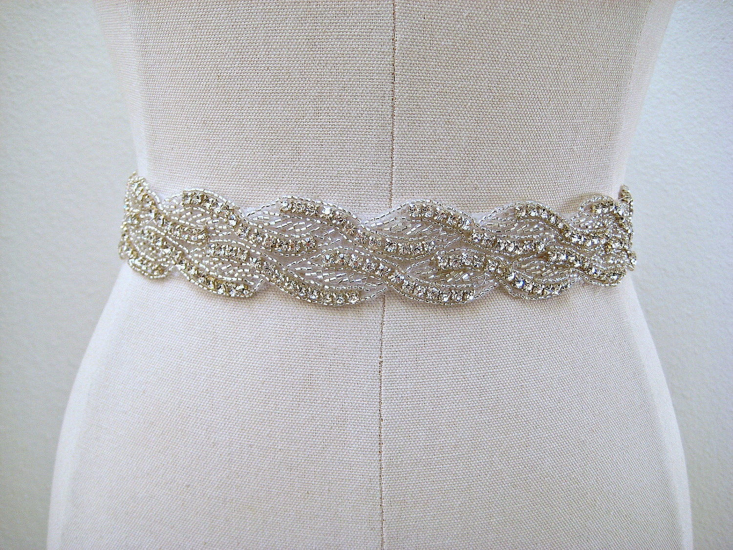 bridal beaded sparkly wedding sash belt by ingenueb