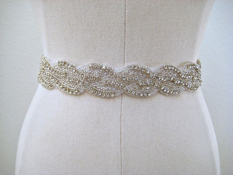 bridal beaded sash rhinestone wedding belt