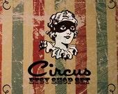 DELUXE Premade Etsy Shop Set - Retro Carnival Circus