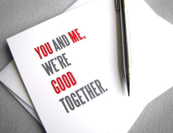 Best Friend Card. Valentine Card for Friend. Printable Card. Good Together. Friendship Card. Instant Download. DIY card. Digital Download.