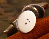 Number 1 Dad, Sterling Silver Cuff links (Hand Stamped personalized)