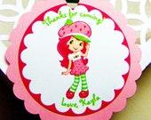 Strawberry Shortcake Favor Tag