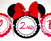 Minnie Mouse Die Cut Banner in Red