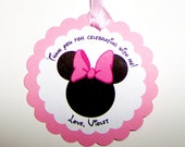 Minnie Mouse Favor Tag in Pink