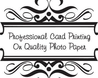 Professional 8x4 inch Card Printing