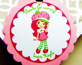 Strawberry Shortcake Favor Tag