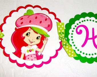Strawberry Shortcake Die Cut Birthday Banner