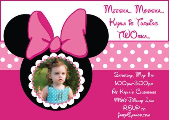 Invitación de Minnie Mouse en versiones de por SilverOrchidGraphics