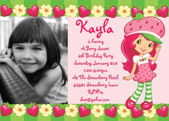 Strawberry Shortcake Birthday Invitations is an amazing ideas you had to choose for invitation design