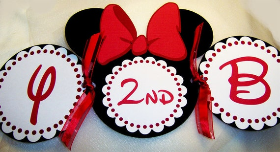 Minnie Mouse Birthday Banner in Red