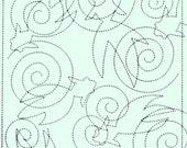 Goldfish 39 - Pale Green Sashiko Sampler with Thread
