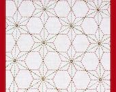 Poinsettia Sashiko Sampler with Thread