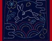 Bunny Sashiko Sampler with Retro Thread