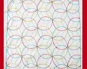 Daisies Sashiko Sampler with Rainbow Thread