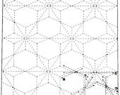 Poinsettia 10 -White Sashiko Sampler with Thread