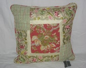 Red Floral Pillow Cover 20x20