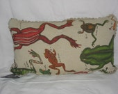 Frog Pillow Cover 12x22