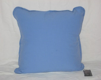 Blue Gingham Pillow Covers 18x18 (2 available)