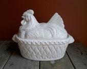 Big Retro Ceramic Chicken Vessel