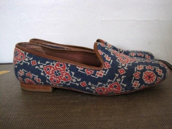 Vintage Tapestry Skimmers Size 7.5 8