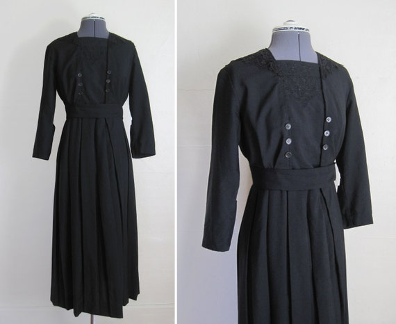 RESERVED Museum Quality Edwardian Mourning Dress 1910s 1900s Near MINT