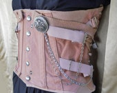 Steampunk Corset // Lock & Chains // Upcycled Vintage Corset  // OOAK // NO Shipping Charges